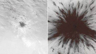Photo of Something so Powerful Impacted Mars it Smashed Through the Planet's Ice Cap