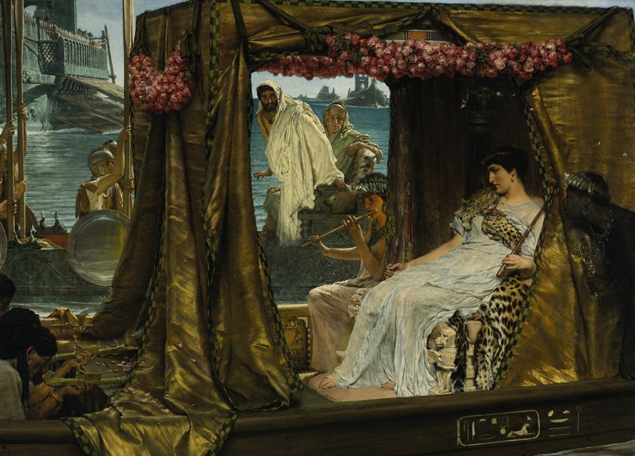 The Meeting of Antony and Cleopatra (1885), by Lawrence Alma-Tadema. Image Credit: Wikimedia Commons.