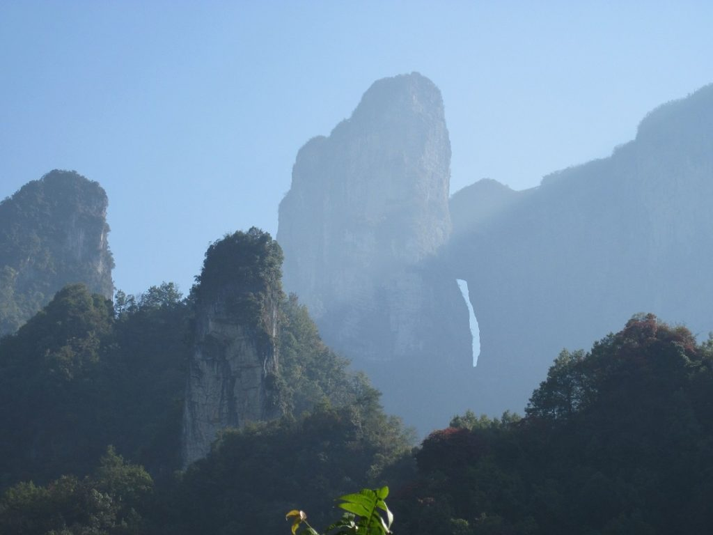 Tian Menshan Mountain, Zhangjiajie famous mountains, national forest park. Image Credit: Wikimedia Commons.