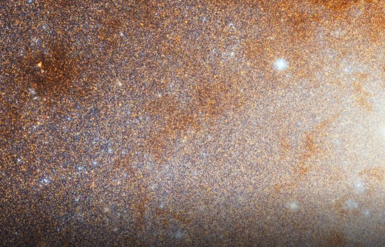 Zoom into the Triangulum Galaxy. Image Credit: NASA, ESA, and G. Bacon (STScI).