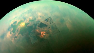 An image of Titan photographed by the Cassini Spacecraft. Image Credit: NASA/JPL-Caltech/Univ. Arizona/Univ. Idaho.