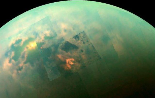An image of Titan photographed by the Cassini Spacecraft. Image Credit: NASA/JPL-Caltech/Univ. Arizona/Univ. Idaho.