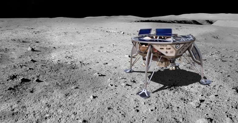An artists rendering of the Beresheet lunar lander.