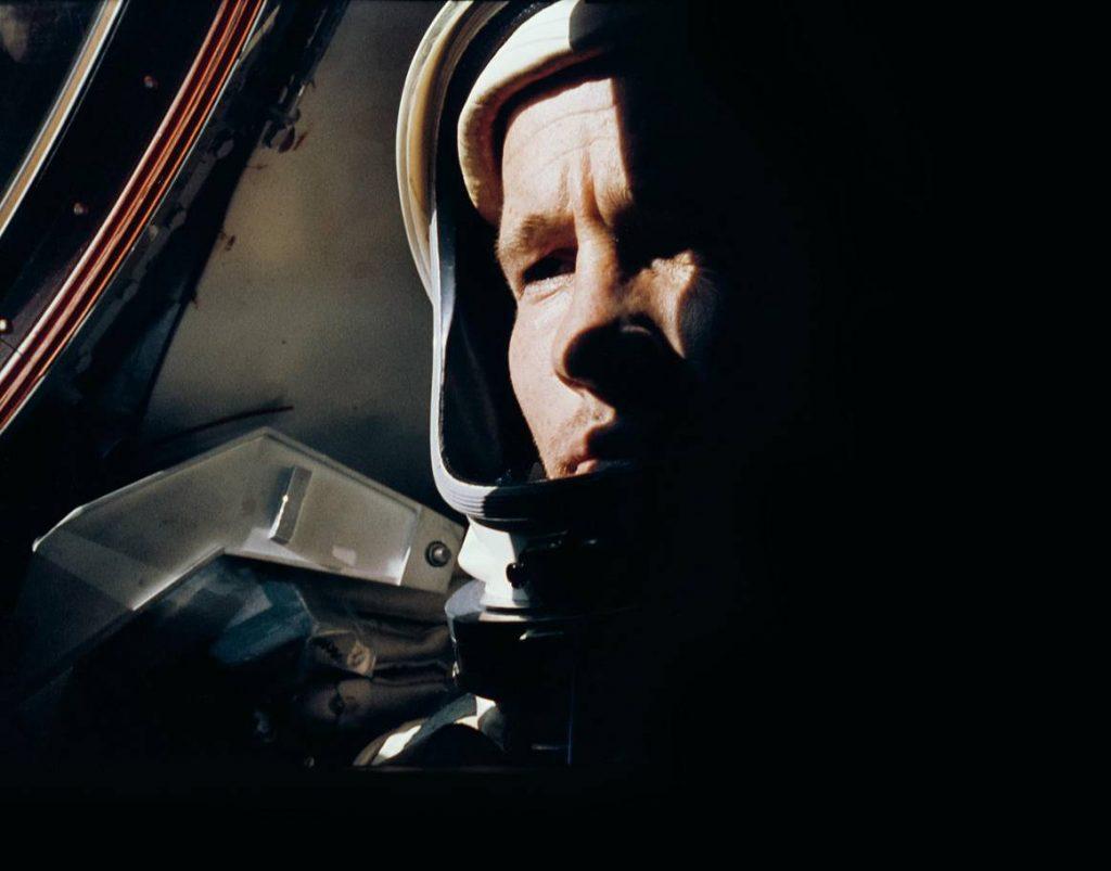 Ed White photographed by Gemini 4 Commander Jim McDivitt. Image Credit: NASA.