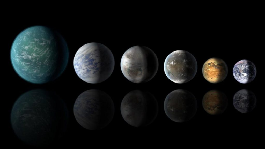 Exoplanets similar to Earth. Image Credit: NASA.