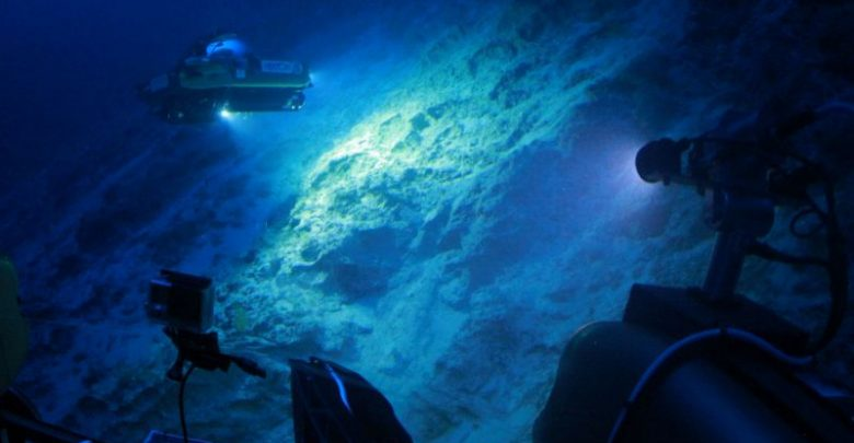 Seen here is a Nekton submersible vehicle working off the coast of Bermuda in 2016. Image Credit: AFP-JIJI.