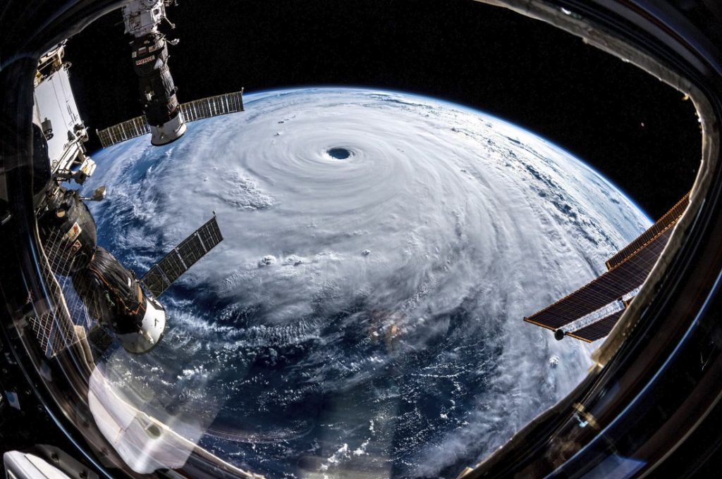 Category 5 Super Typhoon Trami photographed by Alexander Gerst onboard the International Space Station. Image Credit: NASA.