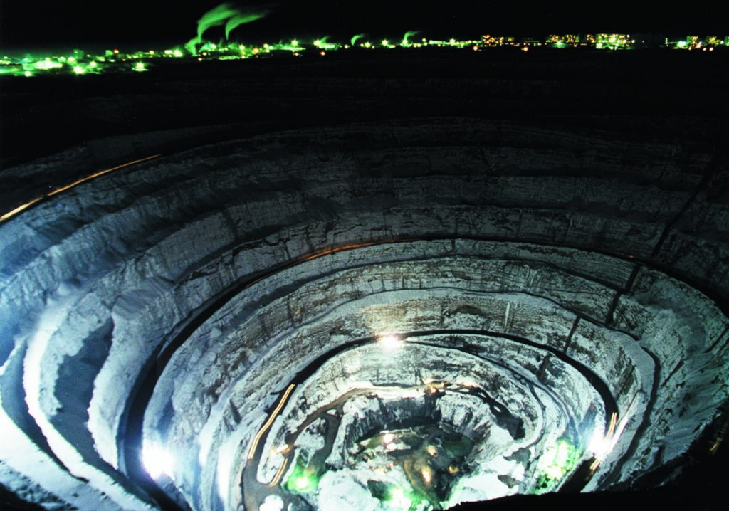 The Mir Mine. Image Credit: Wikimedia Commons.