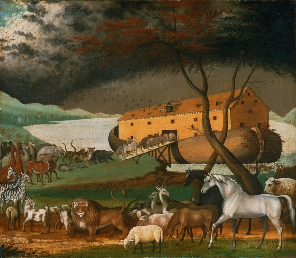 Noah's Ark (1846), by the American folk painter Edward Hicks. Image Credit: Wikimedia Commons.