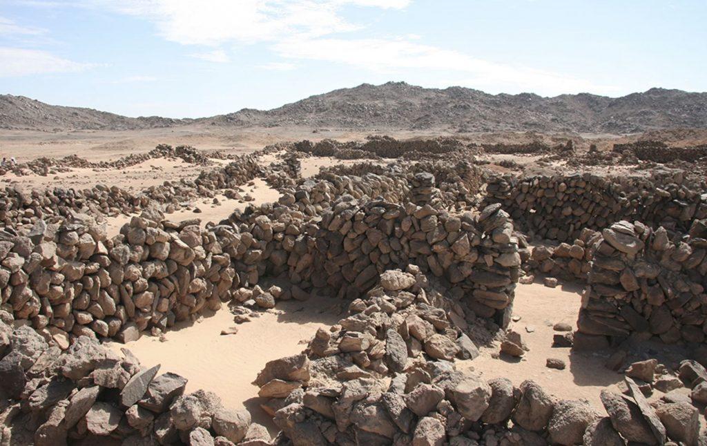 The remnants of an administrative building at Wadi el-Hudi. Image Credit: Wadi el-Hudi Expedition.