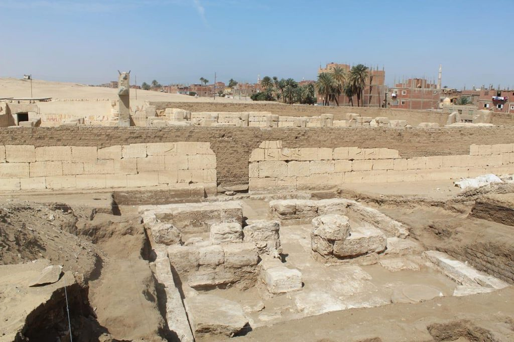 The newly found structure is located adjacent to the temple. Image Credit: Egyptian Ministry of Antiquities.