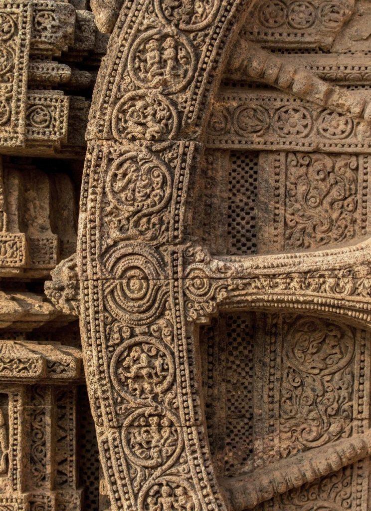 Konarak Konark Sun Temple The carving is very fine on the walls. The ashlar style masonry work is also visible.