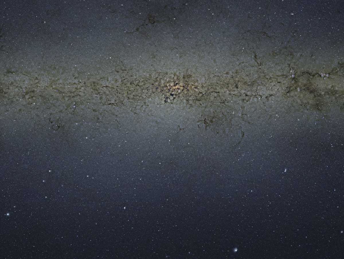 The central part of the Milky Way Galaxy showing 84 million stars. Image Credit: ESO.