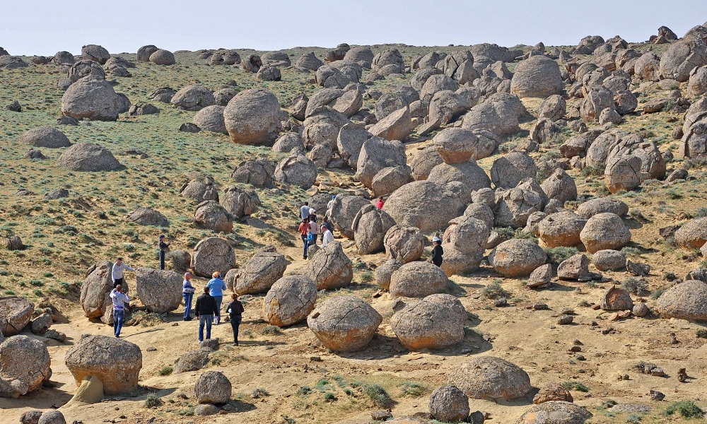 Concretions in Torysh, Western Kazakhstan. Image Credit: Wikimedia Commons.