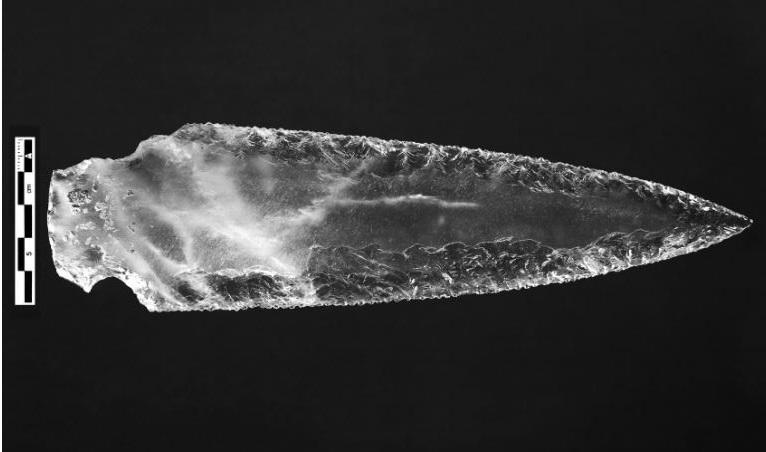 Dagger blade from Structure 10.049 (PP4-Montelirio sector). Image Credit: Miguel Angel Blanco de la Rubia.