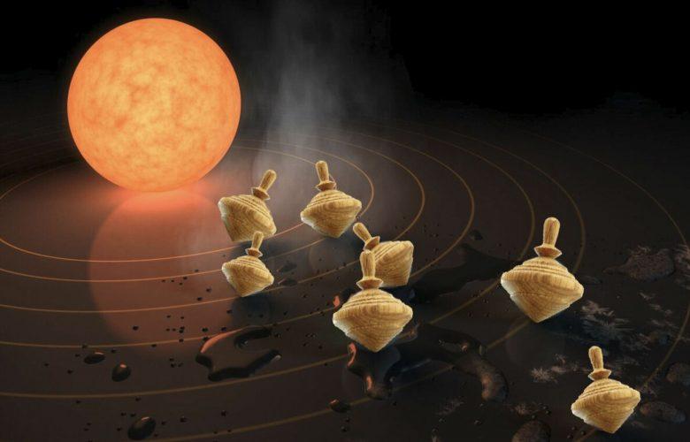 Over-tilting exoplanets. Image credit: NASA / JPL-Caltech / Sarah Millholland.