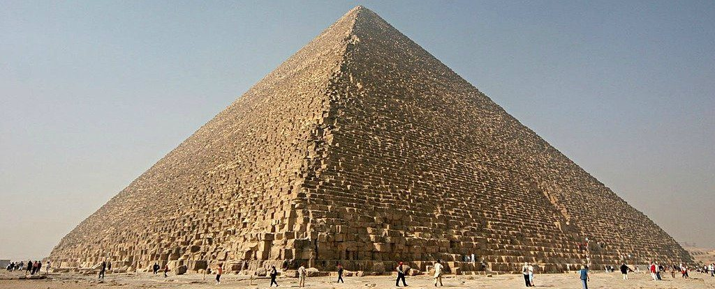 The Great Pyramid of Giza: Image Credit: Nina Aldin Thune/Wikimedia.