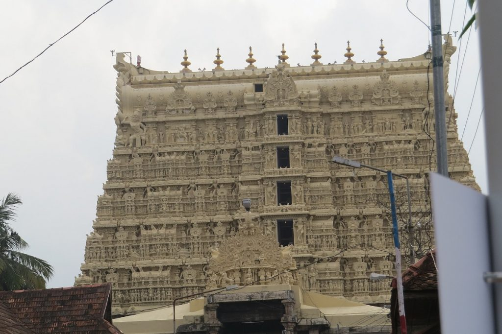 The Padmanabhaswamy Temple. Image Credit: Wikimedia Commons / Vinayaraj.