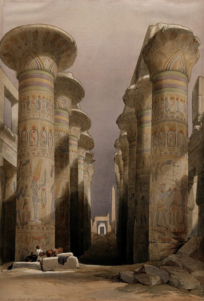 Pillars of the Great Hypostyle Hall. Image Credit: Wikimedia Commons.