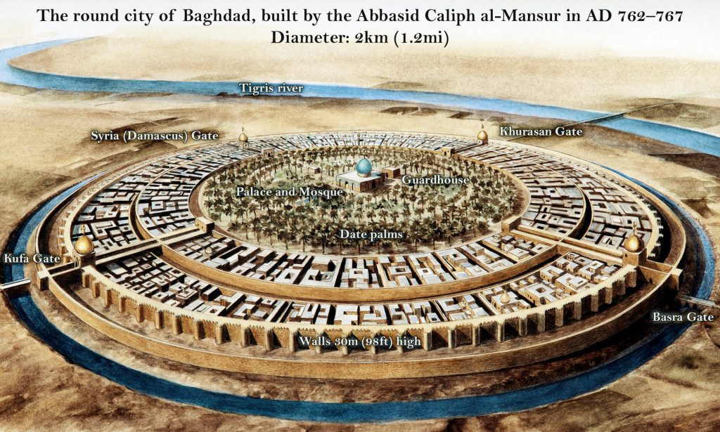 The round city of Baghdad, the city of Peace.