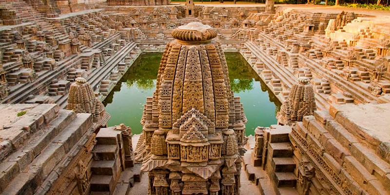 The Sun Temple at Modhera.