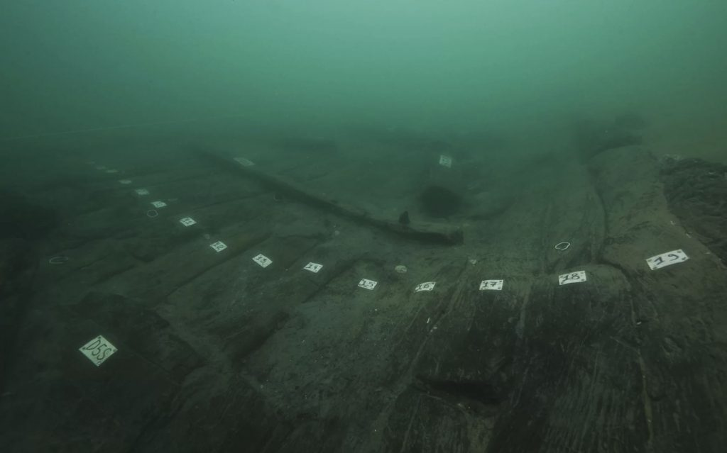 A shipwreck at the sunken port city of Thonis-Heracleion. Image Credit: Christoph Gerigk@Franck Goddio/Hilti Foundation.