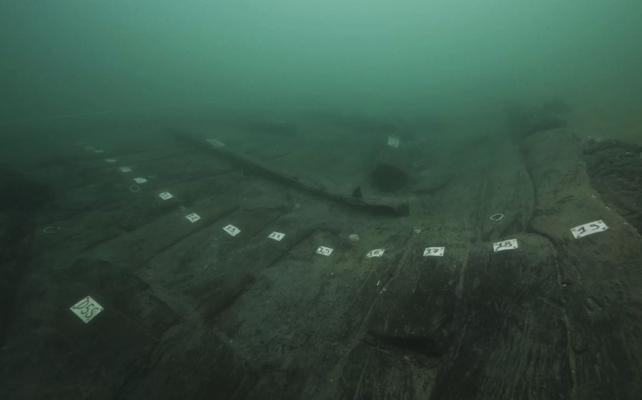 A shipwreck at the sunken port city of Thonis-Heracleion. Image Credit: Franck Goddio / Hilti Foundation / Christoph Gerigk..