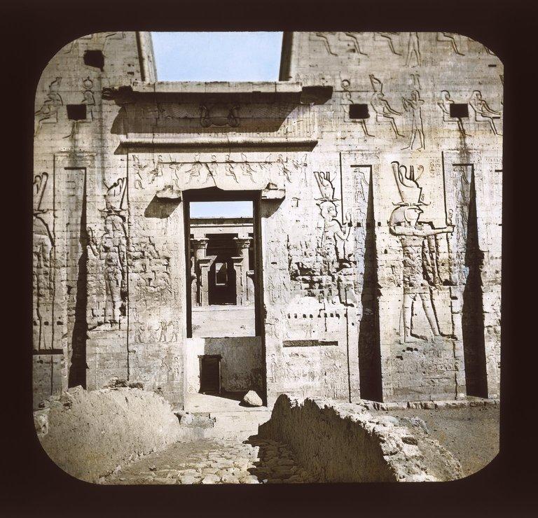 Door of the Pylon at the Edfu. Image Credit: Brooklyn Museum.