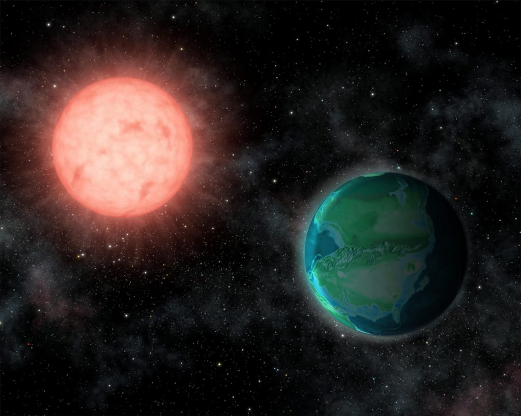 The intense radiation environments around nearby M stars could favor habitable worlds resembling younger versions of Earth, reveals new study by Cornell University experts. Image Credit: Jack O'Malley-James/Cornell University.
