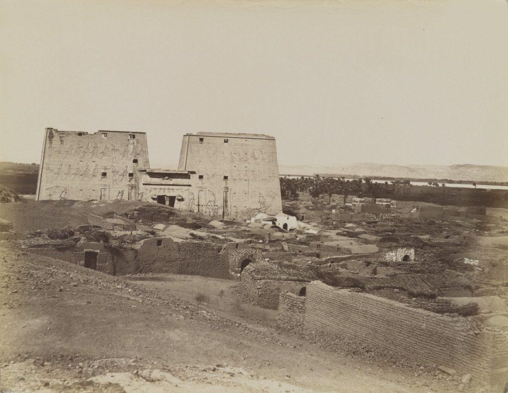 Edfou Pylone et Village. Image Credit: Brooklyn Museum.