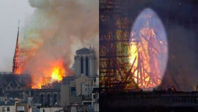 Photo of This Woman Claims the Notre Dame Fire Shows Image of Jesus