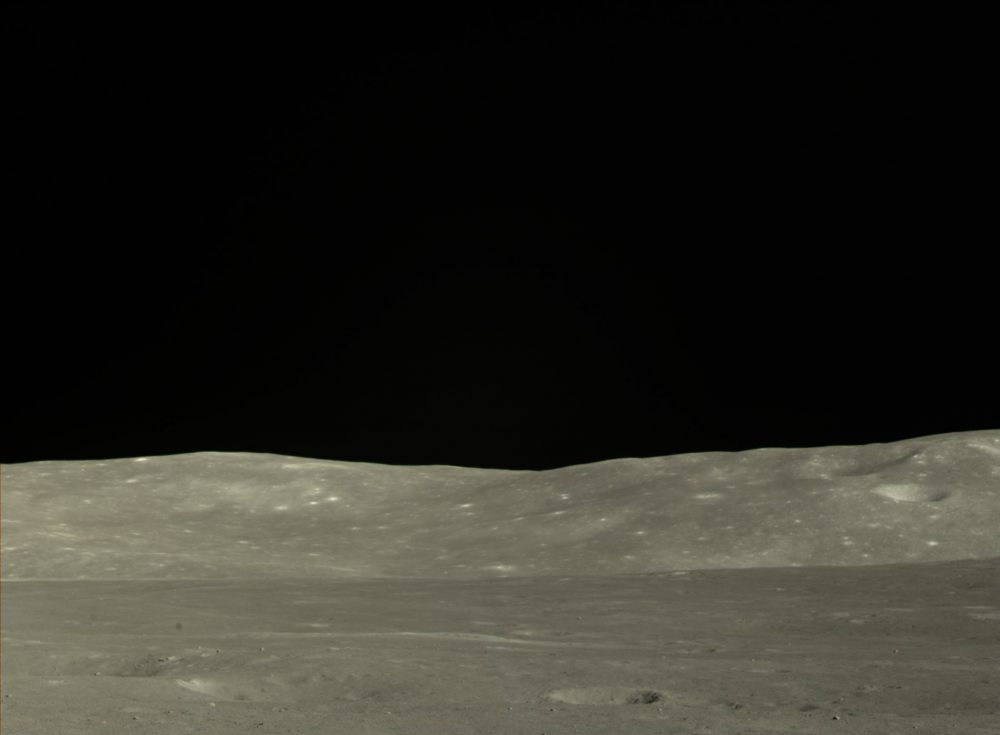 A photograph taken by the Chinese Chang'e 4 mission on the far side of the Moon. Image Credit: CNSA.