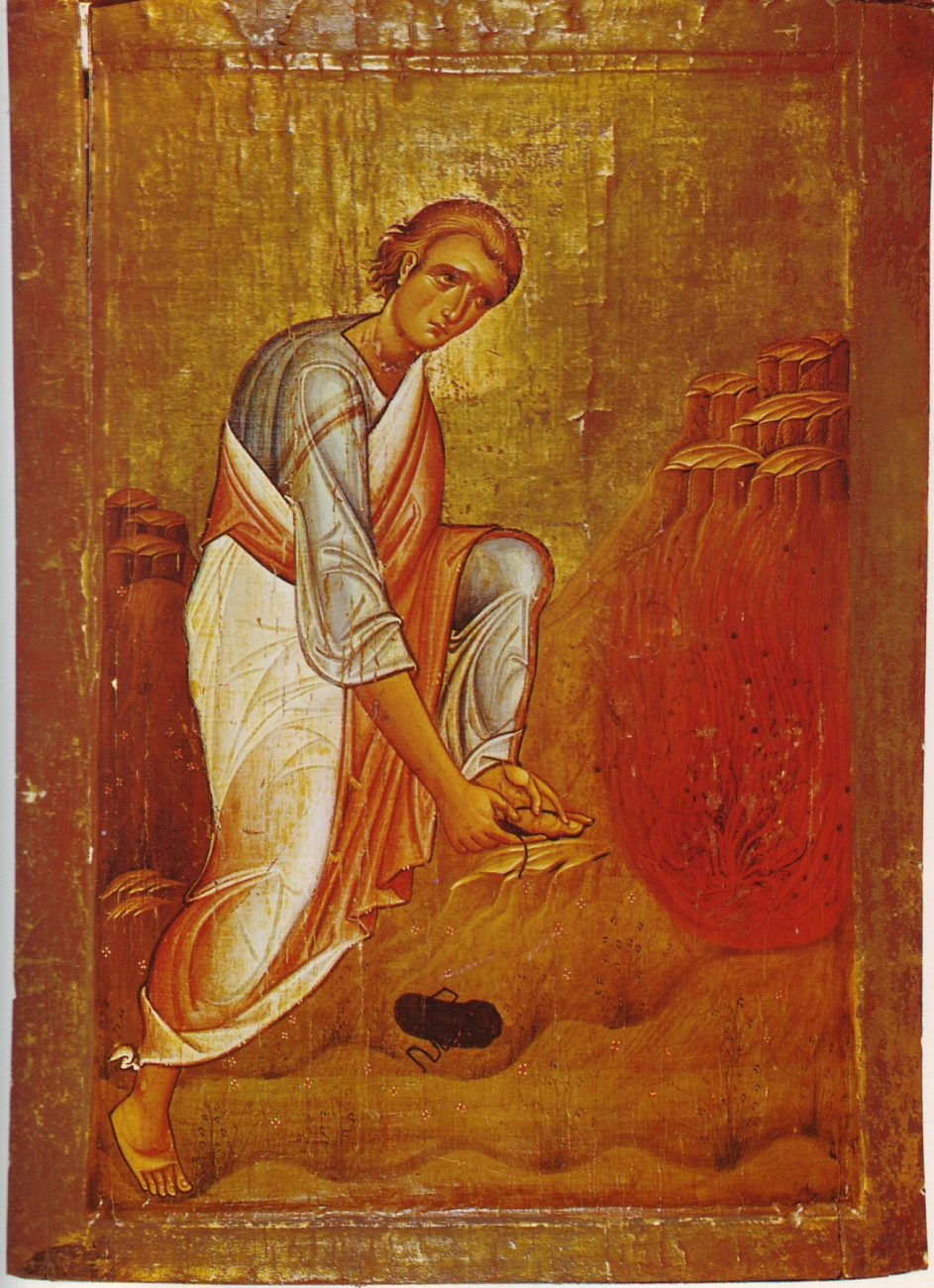 Moses and the burning bush. Loca sancta icon from the 12th (13th?) century. Image Credit: Wikimedia Commons.