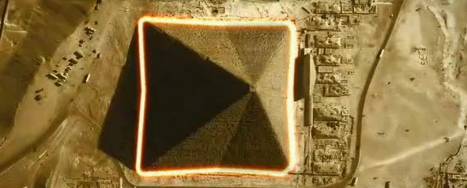 An image showing the eight sides of the Pyramid.