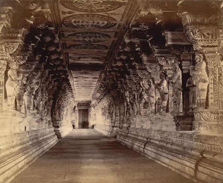 Photograph of the Ramalingeshvara Temple, Rameswaram in Tamil Nadu, taken by Nicholas and Company in c.1884, from the Archaeological Survey of India Collections. Image Credit: Wikimedia Commons.