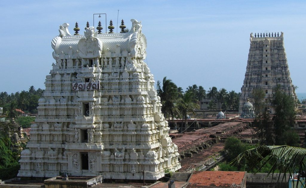 Image of the east and west temple towers. Image Credit: Wikimedia Commons.
