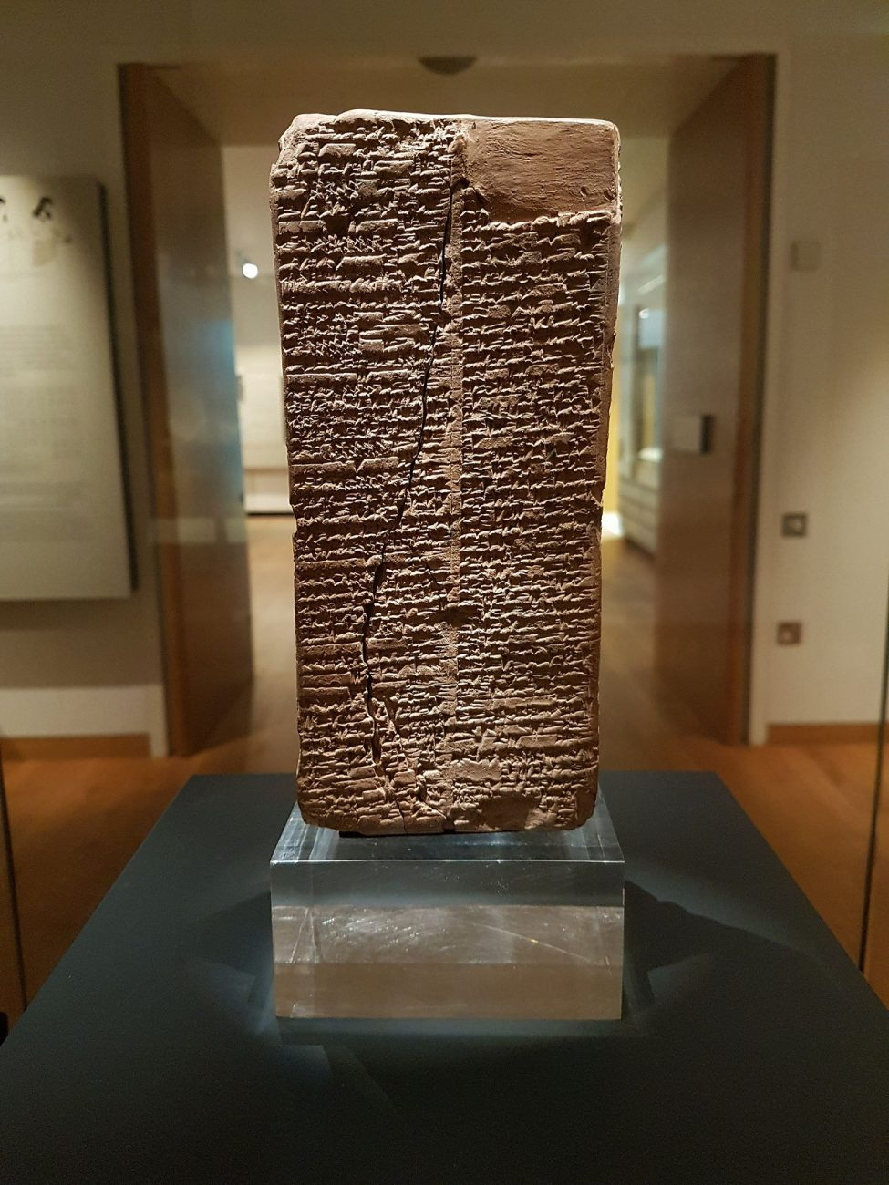 Cuneiform writing on a clay brick, written in the Sumerian language (during the time of the Akkadian empire), and listing all kings from the creation of kingship until 1800 BC when the list was created. Image Credit: Wikimedia Commons.