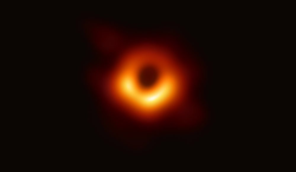 The First image of a black hole. Image Credit: NSF.