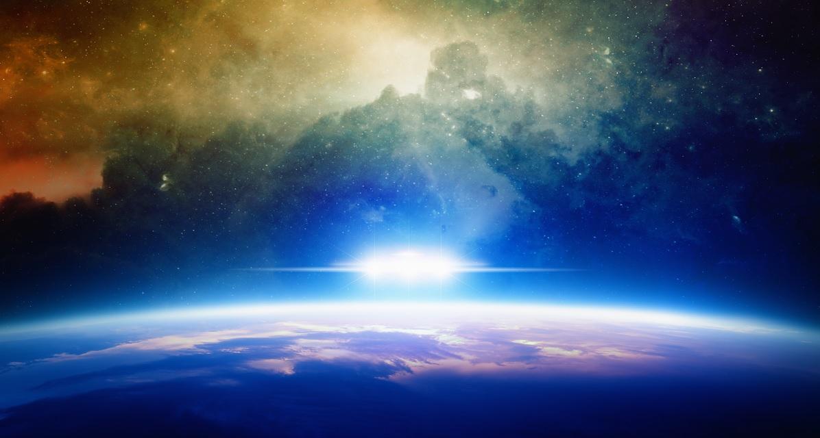 Artists rendering of strange lights above Earth. Image Credit: Shutterstock.