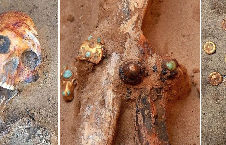 The skeletons at the site are thought to be around 2,000 years old. Image Credit: Astrakhan_archeology/east2west n.