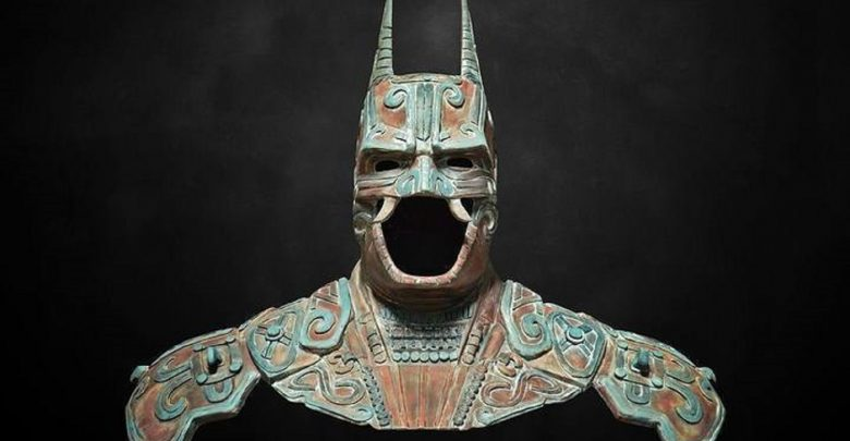 Artists recreation of an ancient Maya batman god. Image Credit: Behance.