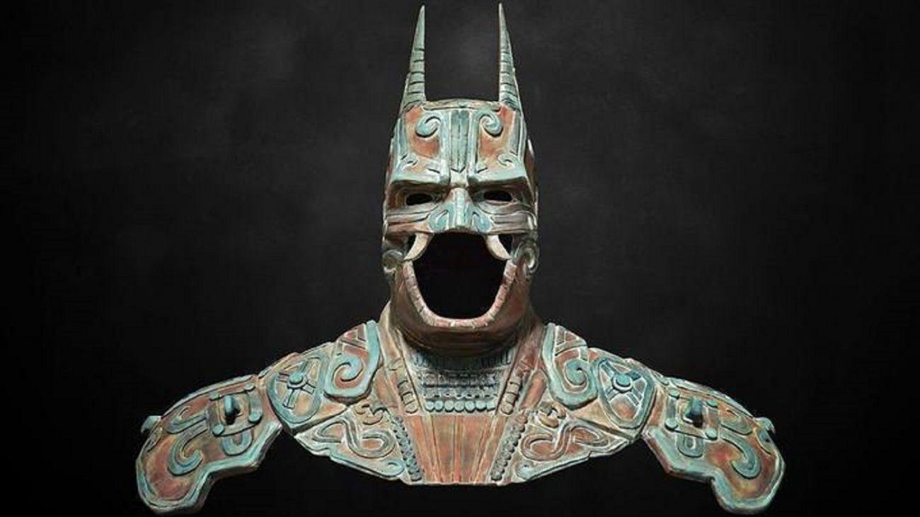 Artists recreation of an ancient Maya batman god. Image Credit: Behance.