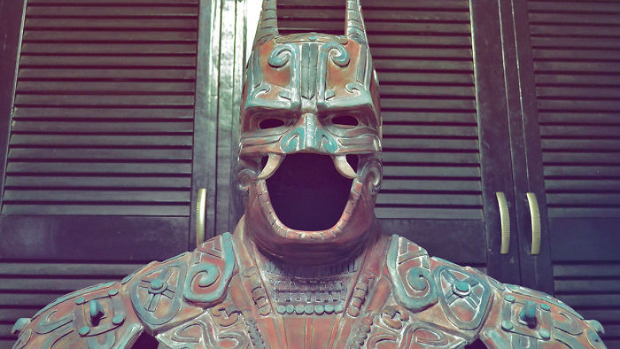 A Bat man god from the ancient Maya. Image Credit: Kimbal Design Studio.