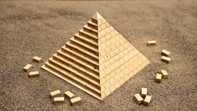 A miniature Pyramid. Image Credit: John Heisz- I Build it.