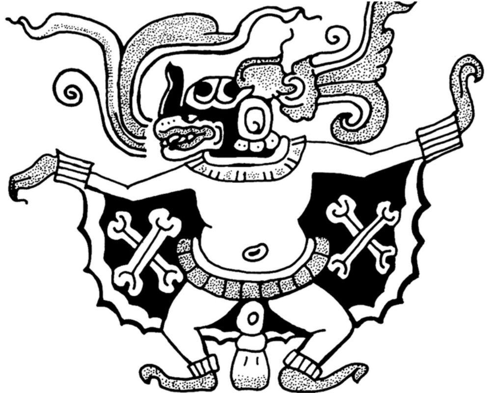 An representation of the Camazotzs Batman god.