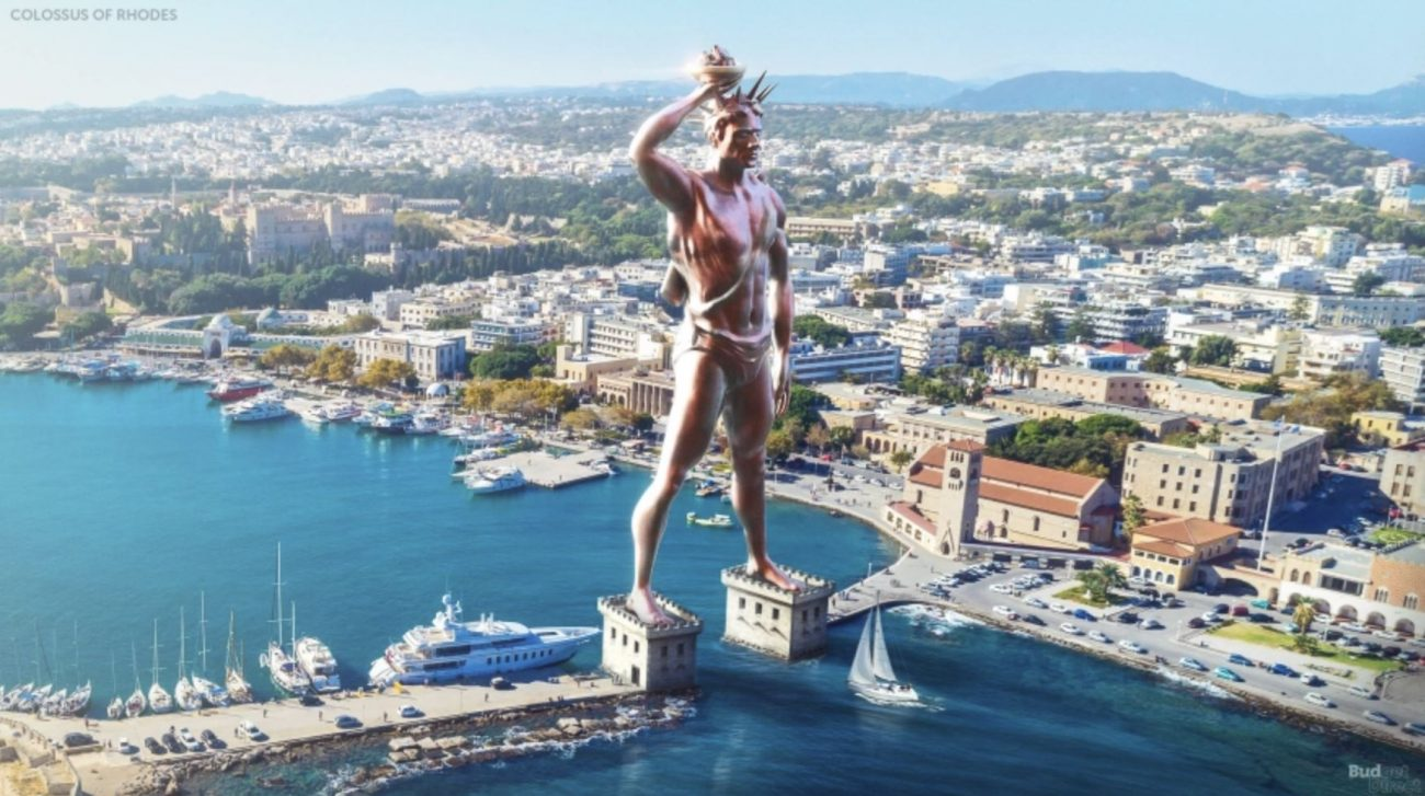 The Colossus of Rhodes. Image Credit: Budget Direct.