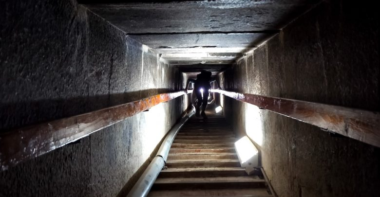 Inside the Great Pyramid. Image Credit: Shutterstock.