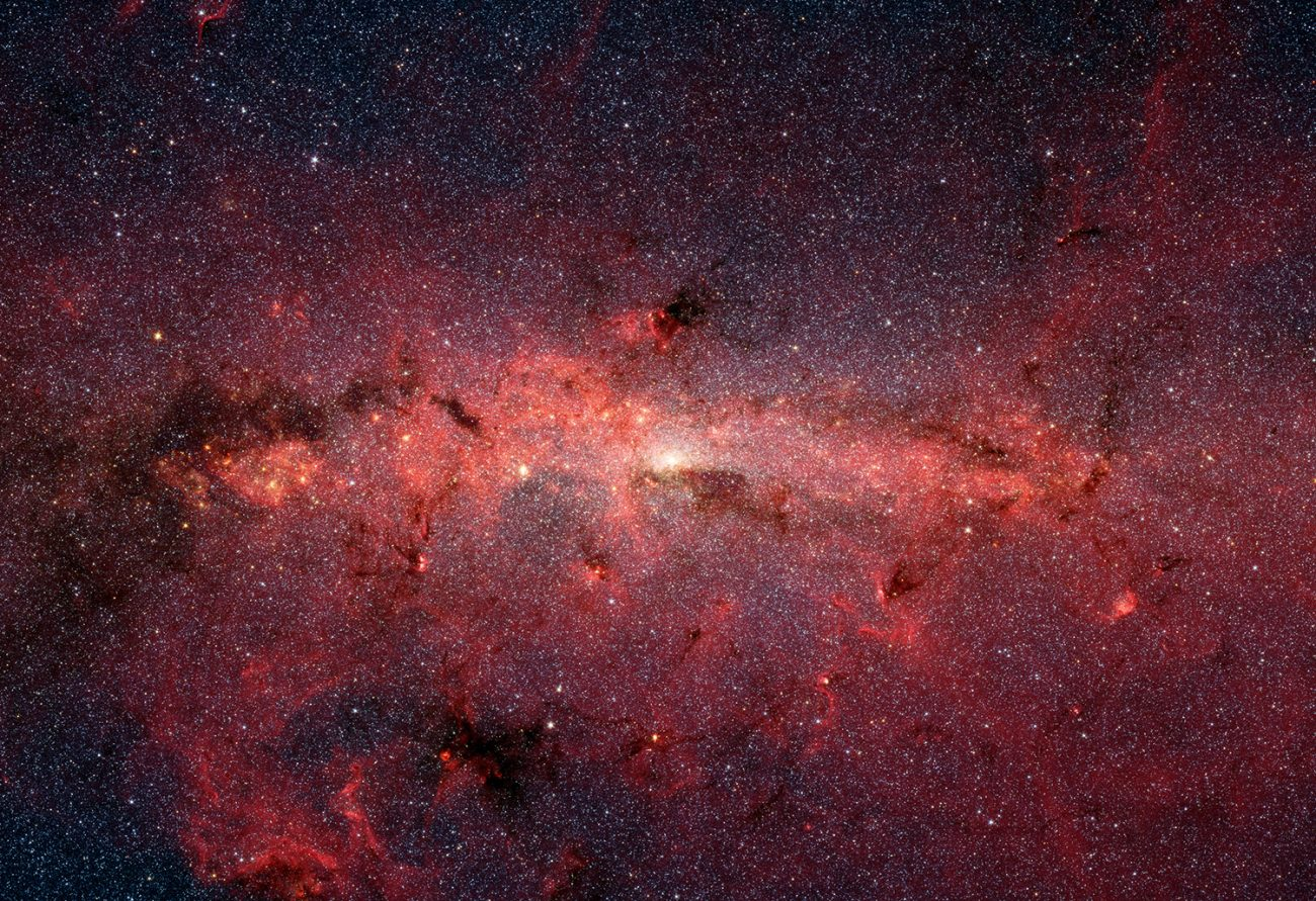 An image of the Milky Way Galaxy in Infrared. Image Credit: Spitzer Space Telescope.