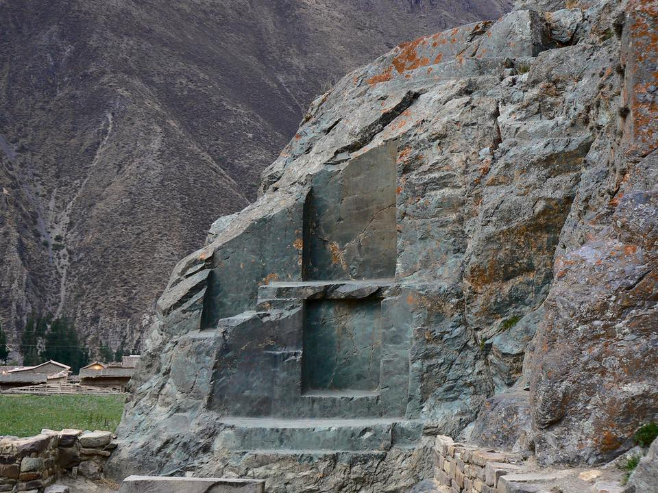 Ollantaytambo quarry. Image Credit: Pinterest.