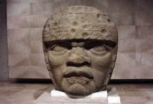 Olmec Head No. 3 from San Lorenzo Tenochtitlan 1200–900 BCE. Image Credit: Wikimedia Commons.